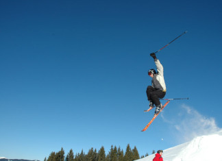 Cheap Flights - Man Ski Jumping