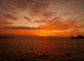 Sunset on Galapagos Islands
