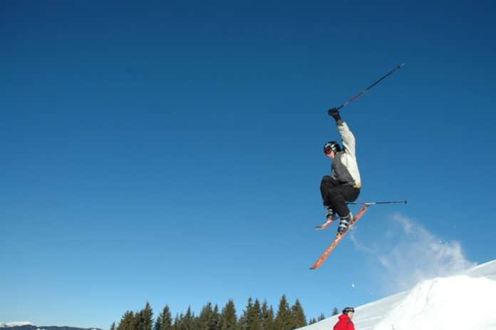 Cheap Flights - Man Ski Jumping