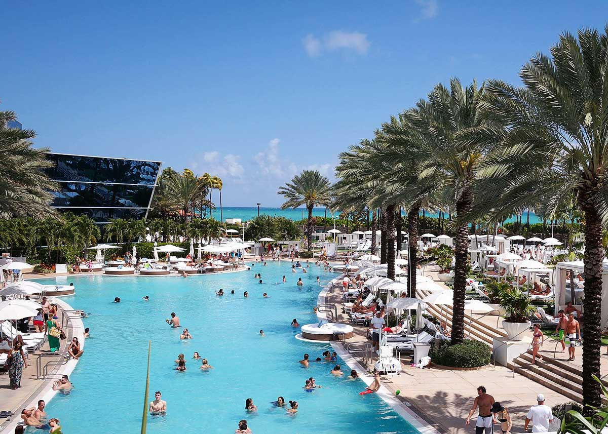 The Fontainebleau Hotel Pool in Miami Beach, Florida
