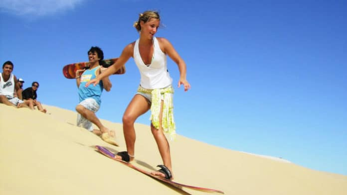 Sandboarding near Cape Town, South Africa